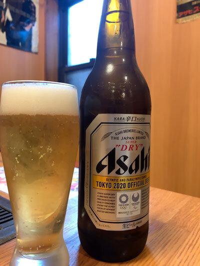 大阪 コリアンタウン お好み焼 オモニ 瓶ビール