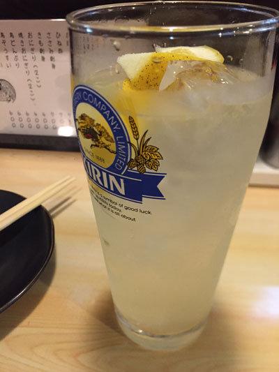 姫路 焼き鳥 西井の焼鳥一番 レモンサワー