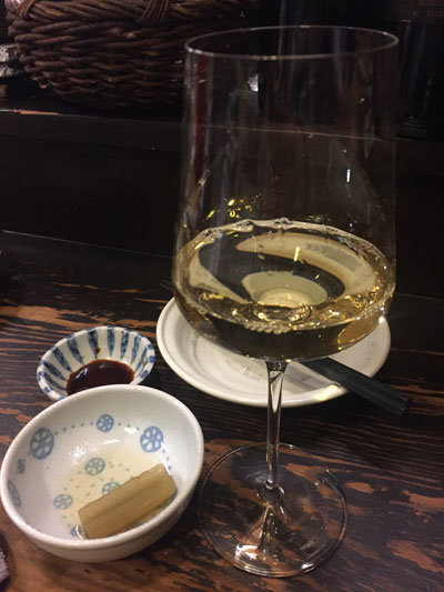 明石 立呑み たなか 白ワイン