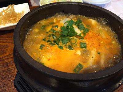 姫路 ランチパスポート 韓国料理 李家房 ズントゥブチゲ