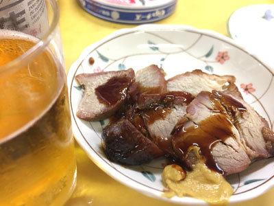 神戸 元町 立呑み 赤松酒店 焼豚