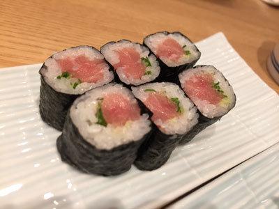 大阪 さかなやのmaru寿司 ネギトロ巻
