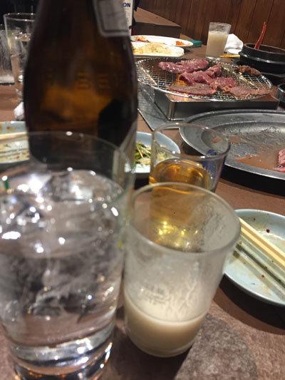神戸 新長田 焼肉 のぎく 焼酎