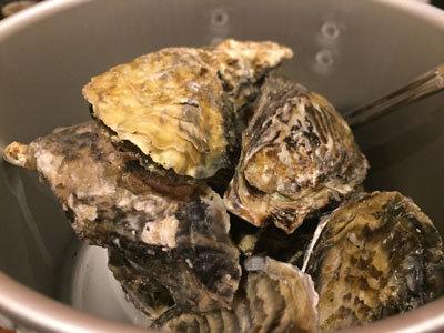 明石 牡蠣 タコ 居酒屋 明石 蒸し牡蠣 測量