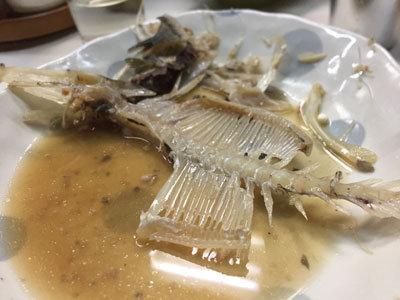 姫路 お食事処 木の実 かわはぎの骨