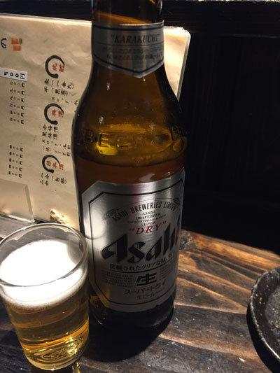 姫路 居酒屋 プロ酒場 瓶ビール