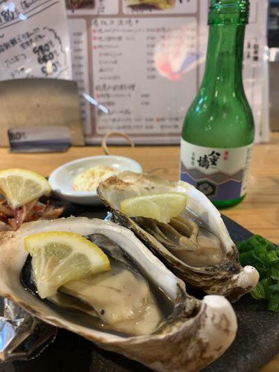 姫路 貝屋 マルホウ 浜焼き牡蠣