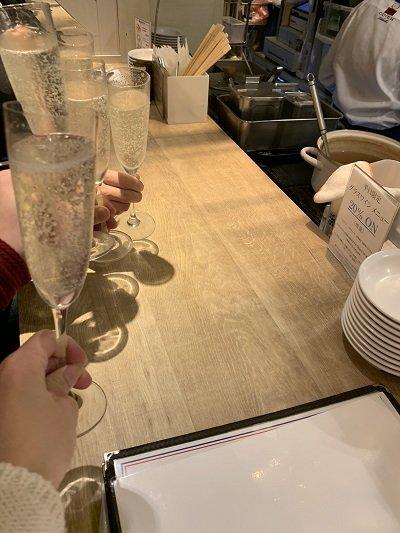 大阪 フレンチ 赤白 kohaku 乾杯