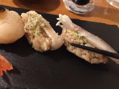 姫路 酒肴 魚寿司 赤いシャリ
