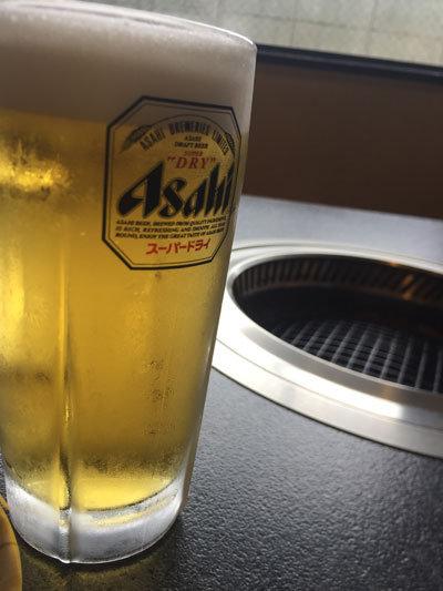 姫路 焼肉 味園 生ビール