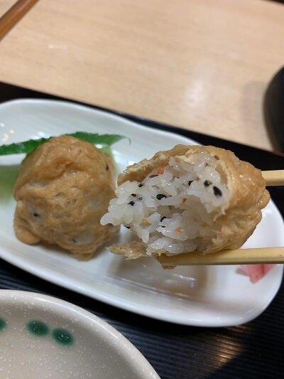 姫路 うどん 都庵 いなり寿司