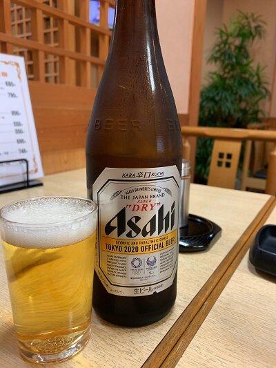 姫路 うどん 都庵 瓶ビール