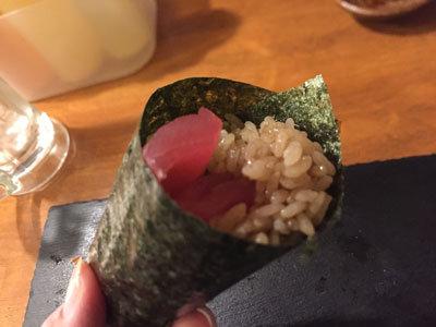 姫路 酒肴 魚寿司 手巻き寿司 塩マグロ