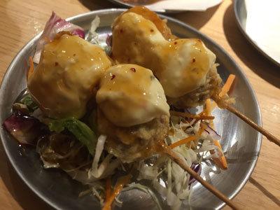 姫路 立吞み 卯の助 鶏団子のタルタルソース