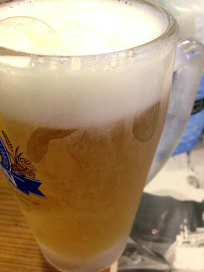高砂 立呑み 人生の楽園 生ビール