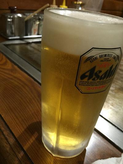 姫路 お好み焼 ボナンザ 生ビール