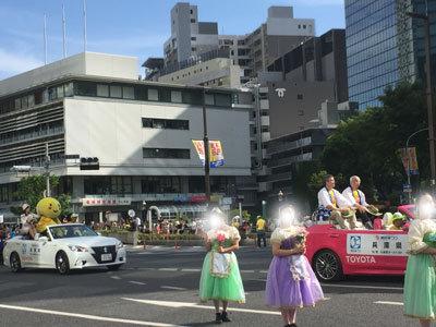 第48回 神戸まつり 三ノ宮 パレード 知事