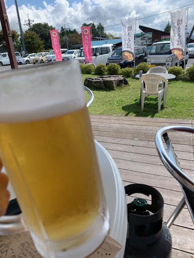 蒜山高原 ジンギスカン WOOD PAO 生ビール