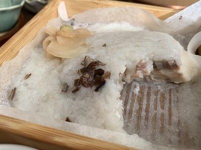 龍野 お食事処 かみおかや 鯛 蒸し物