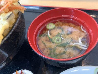 姫路 天晴水産 みのり家 味噌汁 しらす