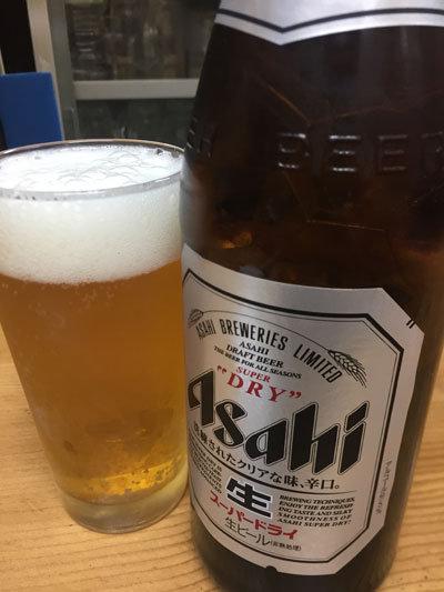 明石 鮪屋の食堂 海路 瓶ビール