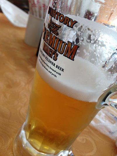 赤穂国際CC ランチビール