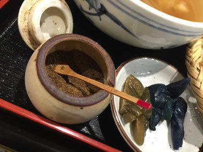 姫路 蕎麦 御座候 巣篭もり蕎麦 山椒