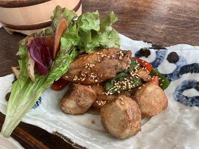龍野 お食事処 かみおかや 鶏里芋