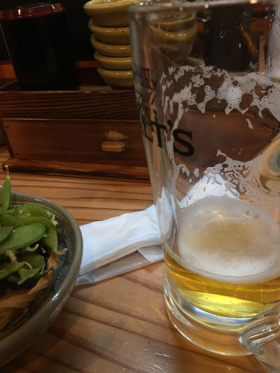 姫路 立ち喰い寿司 魚路 生ビール