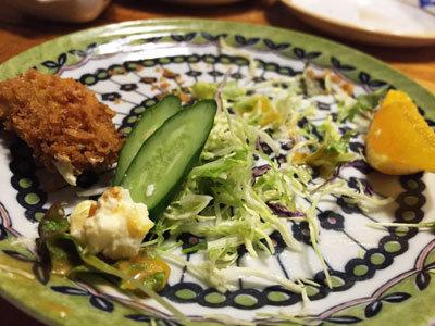 赤穂 レストラン 初音 サラダ
