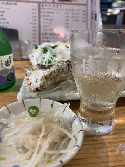 姫路 貝屋 マルホウ 冷酒 ヤエガキ