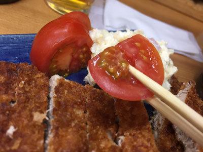 明石 まぐろ家の食堂 トマト