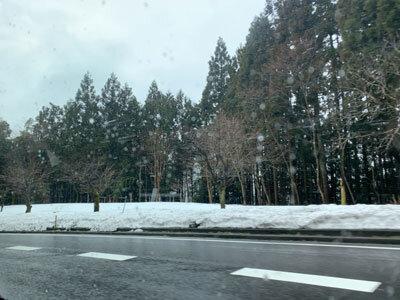 朝来 雪景色