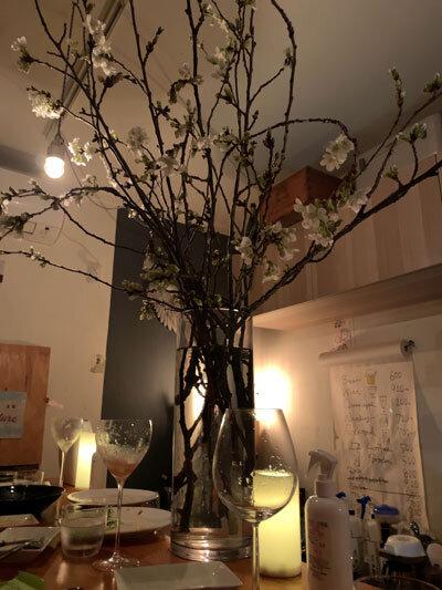 姫路 wine&cafe Reviere 持ち込み 桜