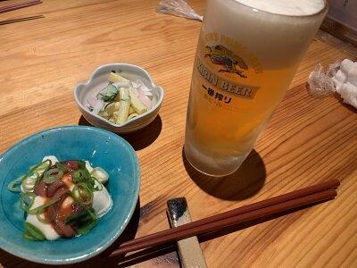 姫路 炉端一品 津和野 生ビール