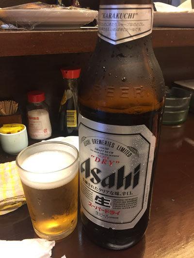 姫路 立呑み 与太呂 瓶ビール