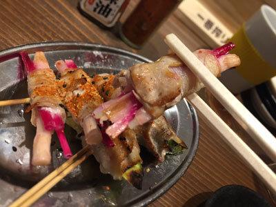 姫路 立吞み BOSS豚 野菜肉巻串 しょうが