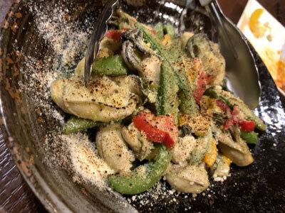 赤穂 牡蠣 かましま 牡蠣バジル炒め