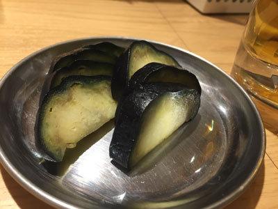 姫路 立呑み 卯の助 泉州茄子の浅漬け