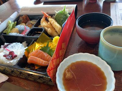 明石 江井ヶ島 酒館 お弁当 海老天ぷら