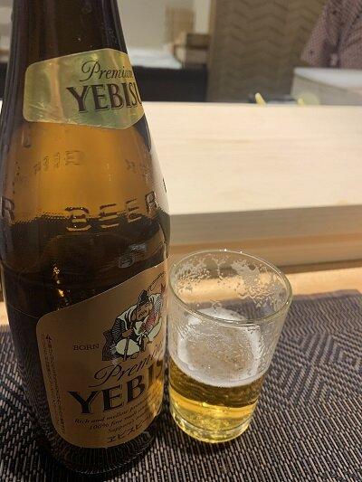 有馬 禅寿司 ビール