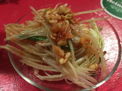 姫路 タイ屋台 令 青パパイヤのサラダ