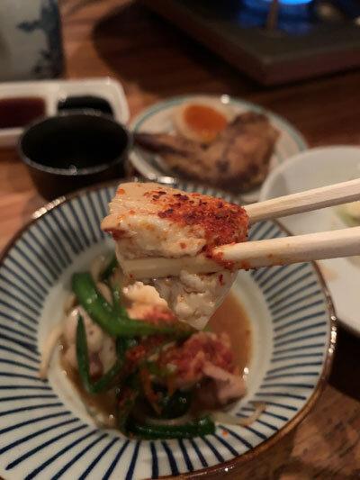 明石 麺や 一福 もつ鍋 豆腐