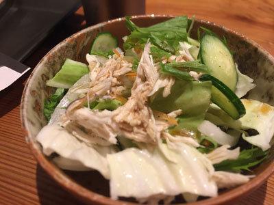 姫路 野里 とり料理 はしもと 鶏サラダ