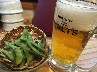 姫路 立ち喰い寿司 魚路 生ビールセット