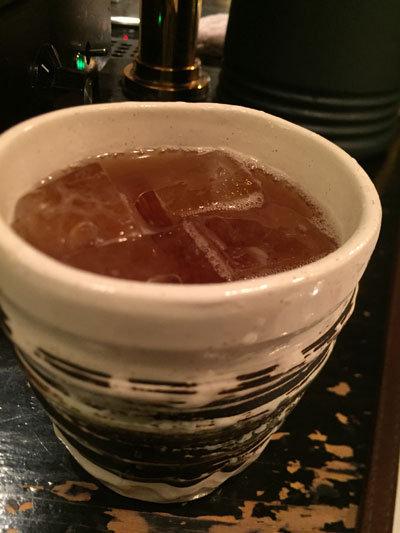 神戸 貝汁そば ボンゴレ亭 麦焼酎ウーロン茶割り