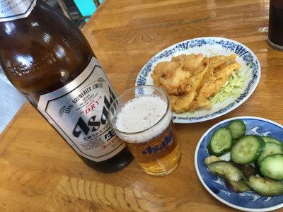 姫路 大衆食堂 かどや 瓶ビール