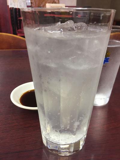 滝の茶屋 中華料理 蓬莱園 チューハイレモン