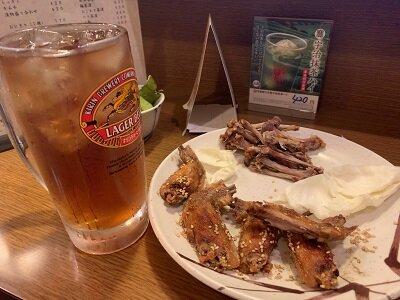 姫路 焼き鳥 ふく鳥 麦焼酎ウーロン割