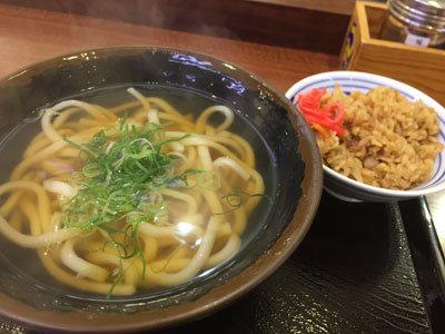 姫路 うどん つるまる饂飩 朝食セット
